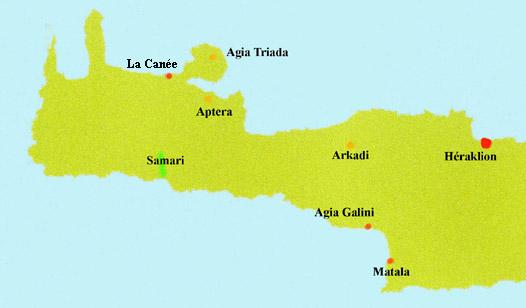 Carte Canee Crete.Crete La Canee Chania Samaria Arkadi Musees Et Sites
