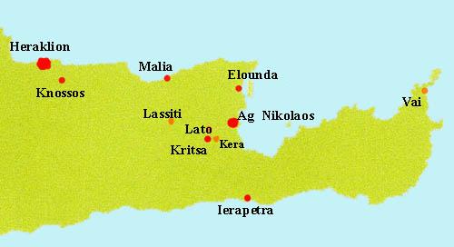 Carte Crete Sud Est.Crete Agios Nikolaos Malia Lassiti Musees Et Sites